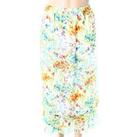 Multiples Womens Petite Abstract Floral Maxi Skirt