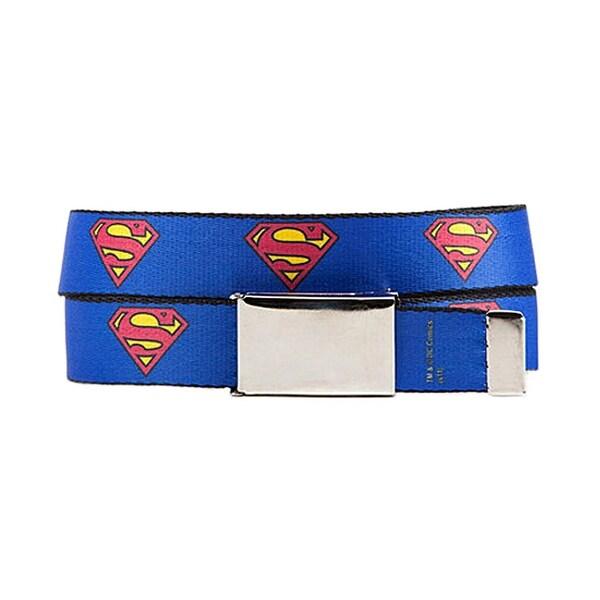 Superman Logo Webbed Belt