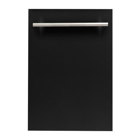 18 in. Top Control Dishwasher in Black Matte with Stainless Steel Tub and Modern Style Handle
