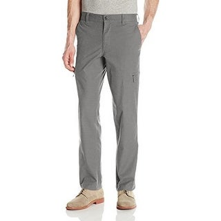 Dockers Mens The Broken In Utility Cargo Straight Fit Pant Stretch, Burma Grey