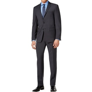 Calvin Klein NEW Gray Charcoal Mens Size 40 Two Button Wool Suit Set