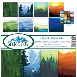 "Reminisce Collection Kit 12""X12""-Scenic View"