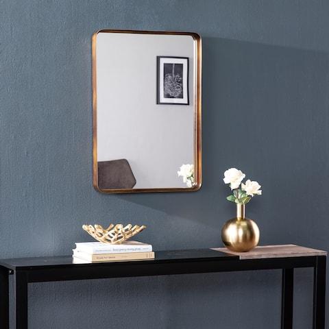 Silver Orchid Wilhelmina Transitional Mirror Gold Mirror