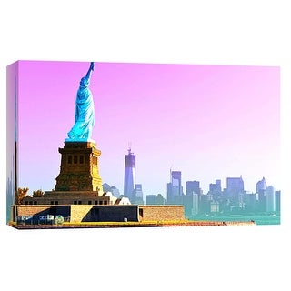 """PTM Images 9-101899  PTM Canvas Collection 8"""" x 10"""" - """"Statue of Liberty"""" Giclee New York Art Print on Canvas"""