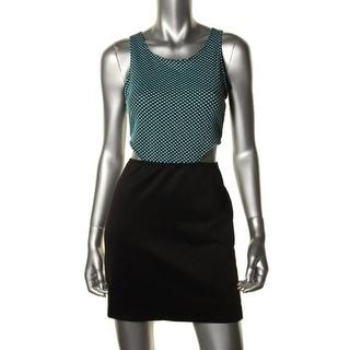 I'm in love with Derek Womens Juniors Clubwear Dress Textured Cut-Out - L