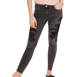 TopShop Moto NEW Black Women's Size 24X28 Petite Jamie Skinny Jeans