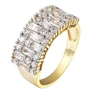 Radiant Round Cut Solitaire Ring 14k Gold On 925 Silver Wedding Promise Elegant