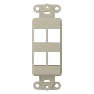 Link to 4 Hole Blank Decora Plate Light Almond Similar Items in Computer Accessories