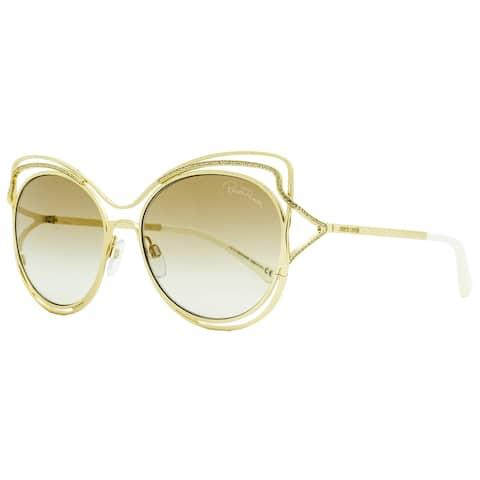 Roberto Cavalli RC1090 Monteriggioni 32G Womens Gold/Ivory 58 mm Sunglasses