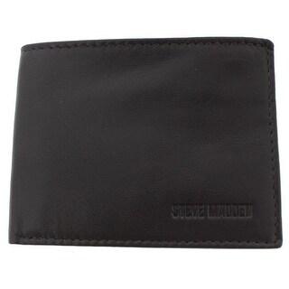 Steve Madden Mens Slimfold Wallet Leather RFID Protection - o/s