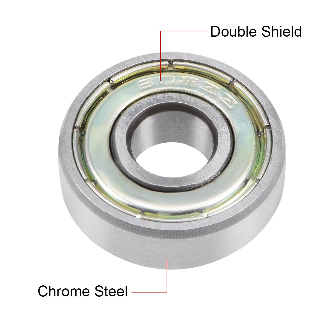 NEW 10pcs 6000ZZ Deep Groove Metal Double Shielded Ball Bearing 10mmx26mmx8mm