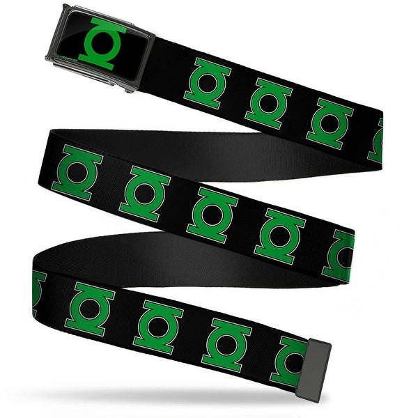 Green Lantern Logo Close Up Fcg Black Green Chrome Green Lantern Logo Web Belt
