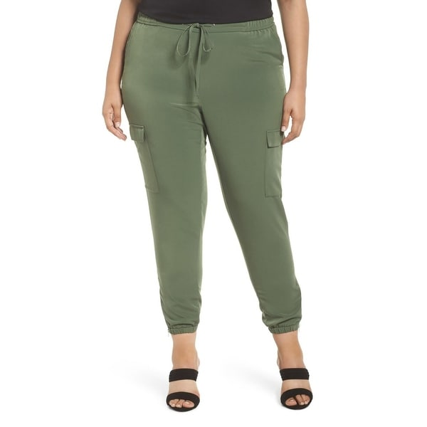 af927158672 Shop Sejour Green Womens Size 24W Plus Drawstring Cargo Stretch Pants -  Free Shipping On Orders Over  45 - Overstock - 27548556