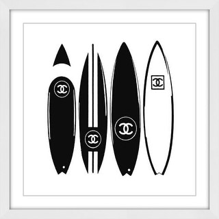"""Marmont Hill MH-DNTEL-26-WFP-24 24 Inch x 24 Inch """"V Chanel Surfboards"""" Framed G"""