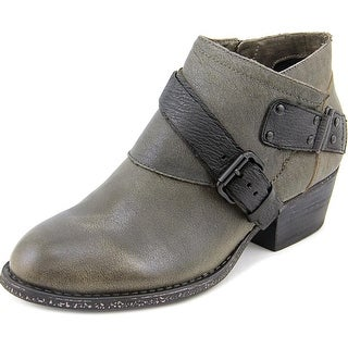 OTBT Fall River Women Round Toe Leather Gray Ankle Boot