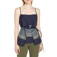 15aedf6e5 Shop Nordstrom Signature Blue Womens Size XS Cashmere Linen Tank Top ...