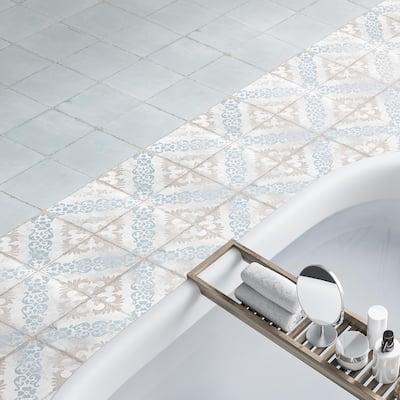 "SomerTile Barcelona Ocean 6"" x 6"" Porcelain Floor and Wall Tile"