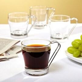 Espresso Americano Glass Coffee Mugs, Set of 4