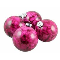 Marbled Red Violet Shatterproof Christmas Ball Ornaments