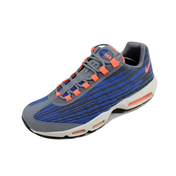 Nike Men's Air Max 95 JCRD Cool Grey/Bright Mango-Black-Game Royal 644793-004 Size 12