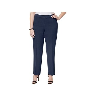 Anne Klein Womens Plus Straight Leg Pants Ankle Formal