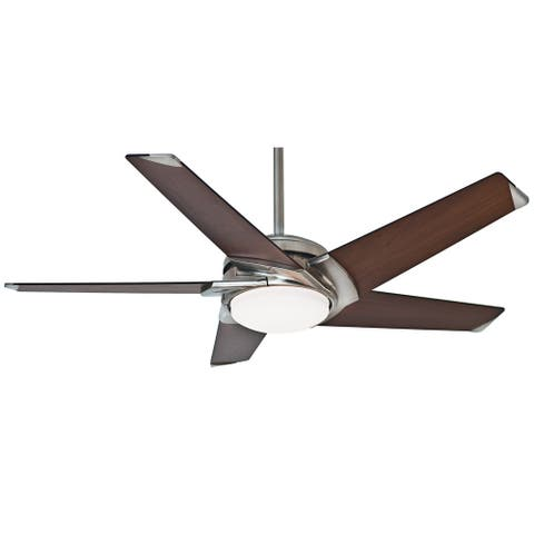 """Casablanca 54"""" Stealth Ceiling Fan with LED Light Kit and Handheld Remote"""