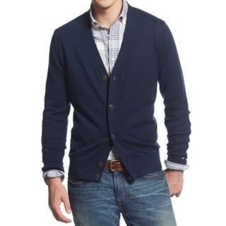 Tommy Hilfiger NEW Navy Blue Men's Size 2XL Knit Cardigan Sweater