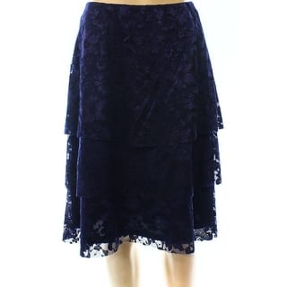 MSK NEW Navy Blue Lace Women's Size Small S Pull-On Tiered Skirt|https://ak1.ostkcdn.com/images/products/is/images/direct/6efd1769ca7fe5aa4cc66122f3ad8e46847812be/MSK-NEW-Navy-Blue-Lace-Women%27s-Size-Small-S-Pull-On-Tiered-Skirt.jpg?impolicy=medium