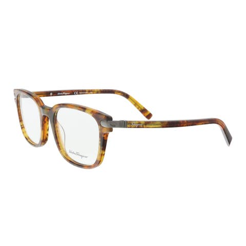 Salvatore Ferragamo SF2771 228 Marble Brown Rectangle Optical Frames - 54-20-145