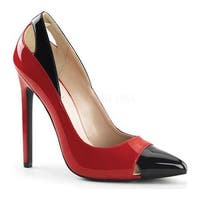 Pleaser Women's Sexy 22 Pump Red/Black Patent