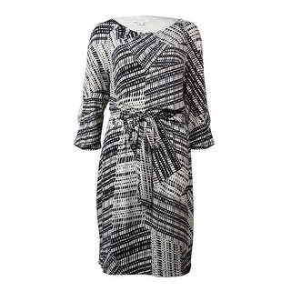 Jessica Simpson Women's Belted Printed Shift Dress
