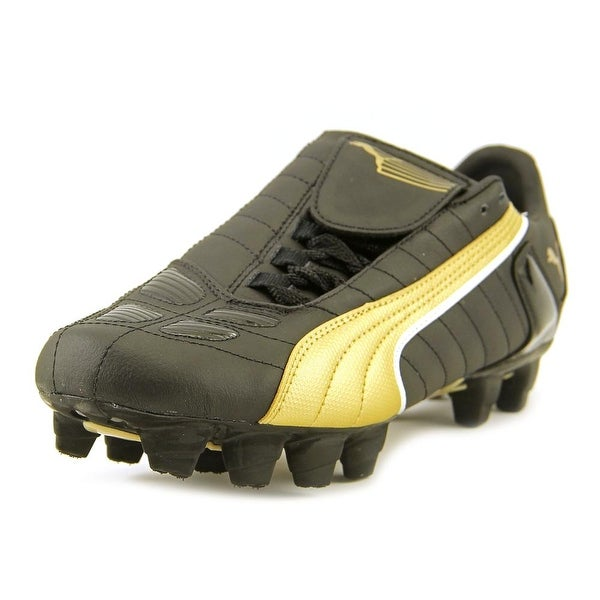 Puma V-Kon II L I FG Black-Team Gold Cleats
