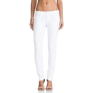 Hudson NEW White Women's Size 24X32 Denim Colin Flap Skinny Jeans