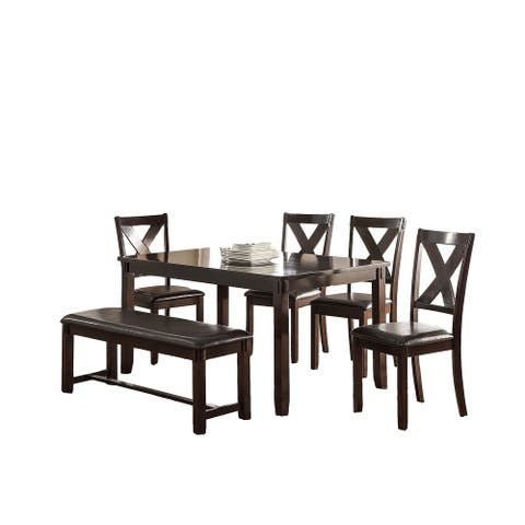 6 Piece Dining Set With X-cross Chair