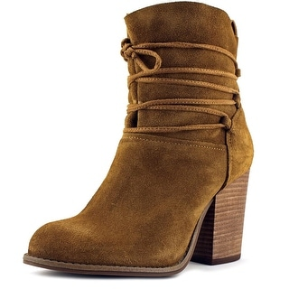Jessica Simpson Satu Women  Round Toe Suede Brown Ankle Boot