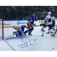 Henrik Lundqvist Signed 16x20 New York Rangers Dive Save Photo Steiner