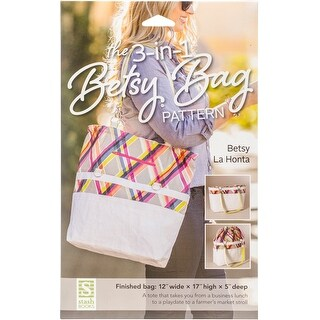 """Kraft-Tex 3-In-1 Betsy Bag Pattern-Finished Size 12""""X17""""X5"""""""