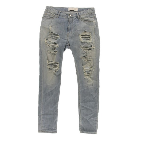 5c551e422c8 Shop IRO. Jeans Womens Mandy Ankle Jeans Light Wash Destroyed - 27 ...