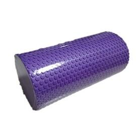Yoga Gym Pilates EVA Soft Foam Roller Floor Exercise Fitness Trigger 30x14.5cm Purple