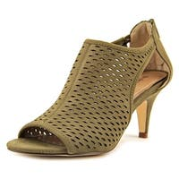 Style & Co. Womens Haddiee Leather Peep Toe Classic Pumps