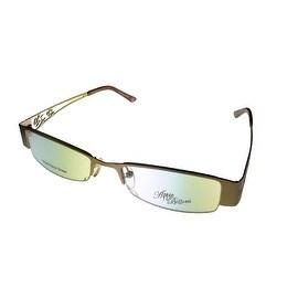 Apple Bottoms Womens Opthalmic Eyeglass Bottom Rimless Metal 701 3 Matt Gold