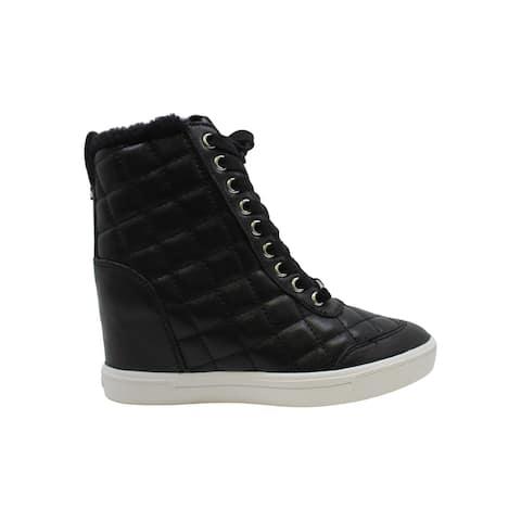DKNY Womens cira Leather Hight Top Zipper Fashion Sneakers