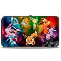 Eevee Smokey Evolution Black Multi Color Hinged Wallet - One Size Fits most