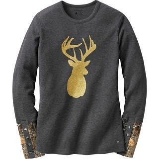 Legendary Whitetails Ladies Huntress Gold Glitter Buck Crew Neck Thermal - Charcoal Heather|https://ak1.ostkcdn.com/images/products/is/images/direct/6f034e4acb3d2a4529ba9a2412c41182105b13ea/Legendary-Whitetails-Ladies-Huntress-Gold-Glitter-Buck-Crew-Neck-Thermal.jpg?impolicy=medium