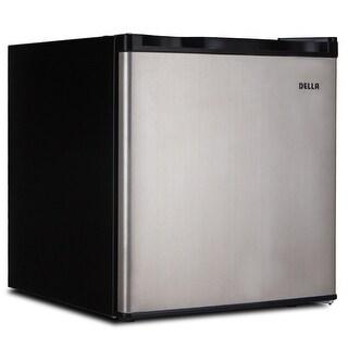 Della Compact Mini Refrigerator U0026 Freezer, 1.6 Cubic Feet, Stainless Steel