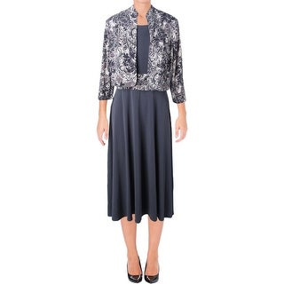 Jessica Howard Womens Dress With Jacket Embellished Printed - 12
