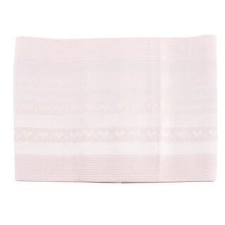 Unique Bargains Women Crown Pattern Stretch Shapewear Slimming Belt Corset Waist Cincher White S