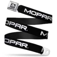 Mopar Logo Full Color Black White Mopar Text Black White Webbing Seatbelt Seatbelt Belt