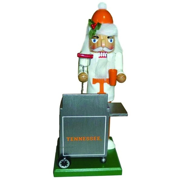 "12"" NCAA Tennessee Volunteers Sports Tailgating Wooden Christmas Nutcracker"