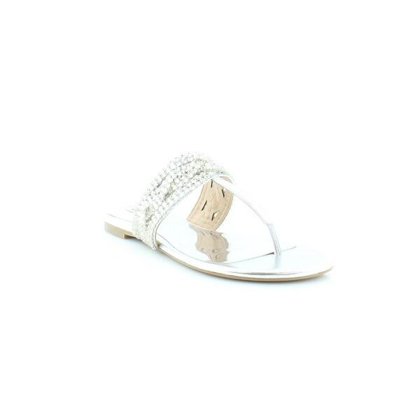 Badgley Mischka Trent Women's Sandals & Flip Flops SIL - 8.5